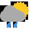 Intervalos nubosos con lluvia débil